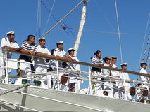 Crew on deck Royalty Free Stock Photos