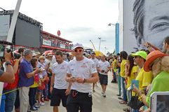 The Crew Of Dongfeng Race team, Volvo Ocean Race Stock Photo