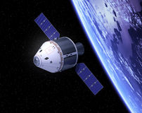 Crew Exploration Vehicle In Space Stock Images