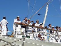 Crew on front deck Royalty Free Stock Photos