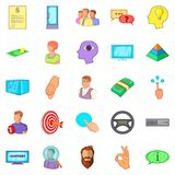 Crew icons set, cartoon style. Crew icons set. Cartoon set of 25 crew vector icons for web isolated on white background Royalty Free Stock Image