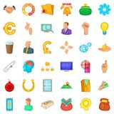 Crew icons set, cartoon style Royalty Free Stock Images