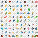 100 crew icons set, isometric 3d style Stock Photography
