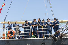 Crew of the Krusenstern sail ship Stock Image