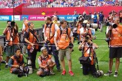Crew of media photographers Royalty Free Stock Image