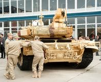 Crew near tank Royalty Free Stock Image