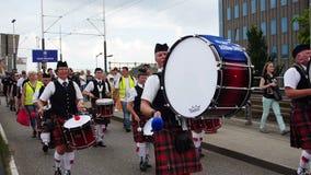 Crew parade at Sail 2015 stock video footage