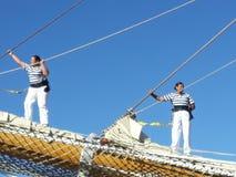 Crew on pole Stock Photo