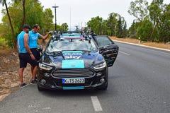 Team Sky Car And Crew Members La Vuelta España Stock Photo
