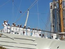 Crew saying goodbye Royalty Free Stock Photos