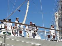 Crew saying goodbye Stock Image