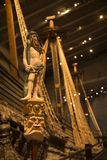 Crew sculpture of Warship vasa royalty free stock images