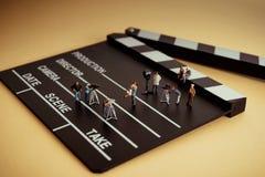 Free Crew Shooting Romantic Movie. Film Making Concept Stock Photography - 180302802