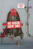 Crew Only Sign Stock Photo