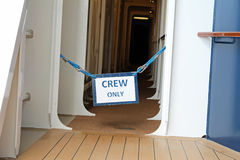 Crew Only Sign 2 Stock Photography