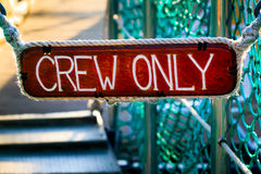 Crew Only sign Stock Photos