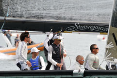 Crew of stravaganza winning the Trofeo Gorla 2012 Stock Photography