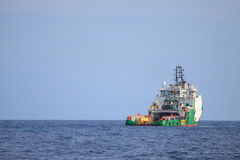 Crew and Supply Vessel offshore or Supply Boat. Royalty Free Stock Photos