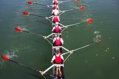 Crew Team in Competition Stockfotografie