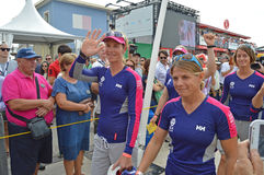 The Crew Of Team SCA, Volvo Ocean Race Royalty Free Stock Images