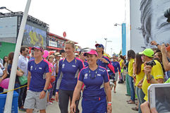 The Crew Of Team SCA, Volvo Ocean Race Stock Images