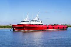 Crewboat costero Fotografía de archivo