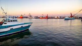 Crewboat en mer Image libre de droits