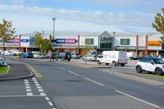 Crewe Retail Park Stock Image