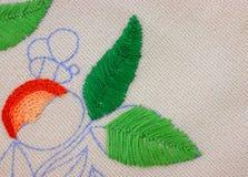 Crewel het werk aangaande linnen Stock Afbeeldingen