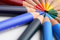 Creyón coloreado Foto de archivo libre de regalías