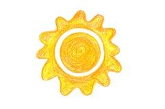 Creyón Sun Ilustración del Vector