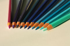 Creyones azules Fotografía de archivo libre de regalías