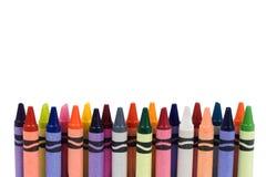 Creyones coloreados Imágenes de archivo libres de regalías