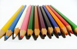 Creyones coloreados Fotos de archivo libres de regalías
