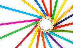 Creyones coloreados Foto de archivo libre de regalías