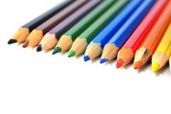 Creyones coloreados Fotografía de archivo libre de regalías