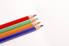Creyones coloreados de los lápices Fotografía de archivo libre de regalías