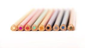 Creyones coloreados de los lápices Imagenes de archivo
