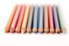 Creyones coloreados de los lápices Imagen de archivo libre de regalías