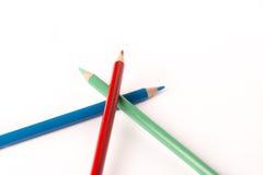 Creyones coloreados de los lápices Fotos de archivo