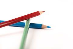 Creyones coloreados de los lápices Fotos de archivo libres de regalías