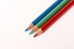 Creyones coloreados de los lápices Foto de archivo