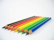 Creyones coloreados III Foto de archivo libre de regalías