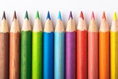 Creyones coloridos Fotografía de archivo