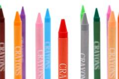 Creyones coloridos Imagen de archivo libre de regalías