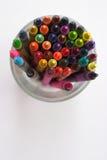 Creyones coloridos Imagenes de archivo