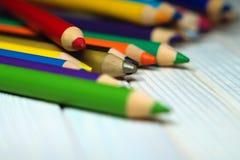 Creyones coloridos Fotografía de archivo libre de regalías