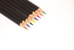Creyones coloridos del lápiz imagenes de archivo