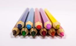 Creyones coloridos del lápiz De nuevo a escuela Imagen de archivo libre de regalías