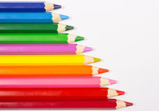 Creyones coloridos del lápiz De nuevo a escuela Foto de archivo